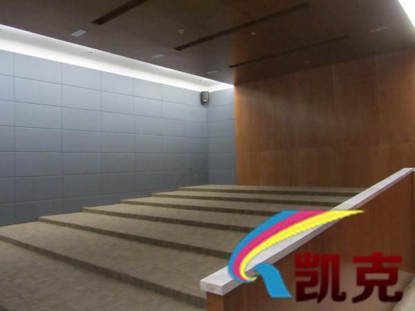 木丝吸音板大学报告厅项目实拍吸音工程项目施工完毕效果