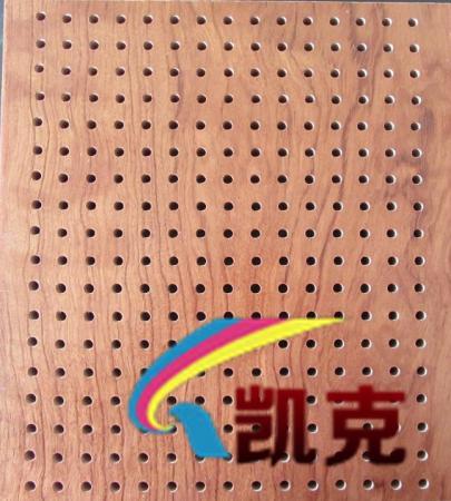 环保冲孔吸音板,穿孔防火三聚氰胺木质穿孔吸音板