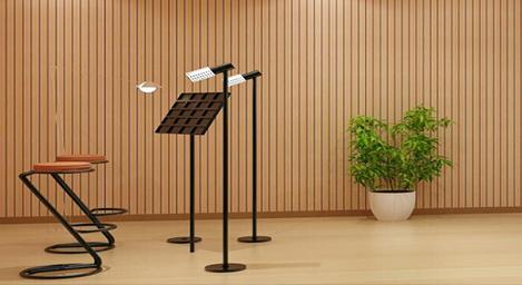 幼儿园木质吸音板,录音室聚酯纤维吸音板,别墅环保吸音板效果展示